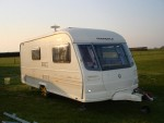 We tow caravans to and from campsites all over the UK and Europe. Any size! Fully insured... - click to enlarge